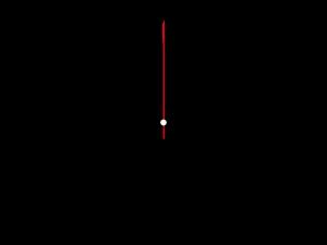 18時を指した時計のイラスト